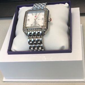 "Michele ""Milou"" Stainless Steel Diamond Watch"